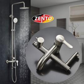 Bộ sen cây nóng lạnh inox Zento SUS8067